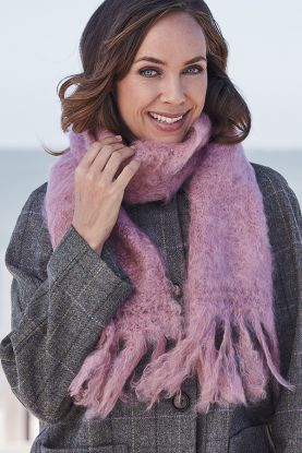Hand-Brushed Mohair Scarf