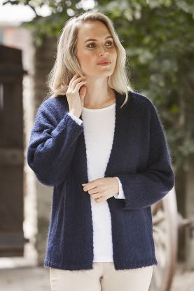 Mohair cardigan in blue
