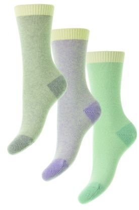 Ladies Coloured Cashmere Socks