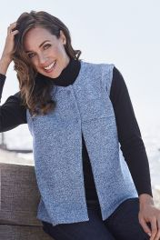 Merino Button Gilet