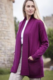 Women's yashino rib edge cardigan