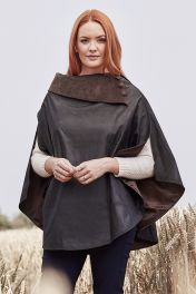 Wax Poncho in Brown