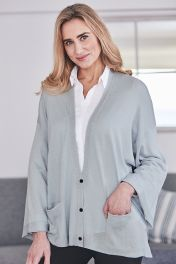 Cashmere Silk Button Cardigan