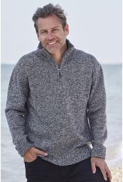 Gents Merino Half Zip Sweater