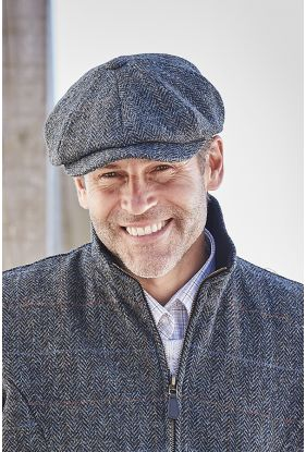 Gent's Harris Tweed 8 Piece Cap