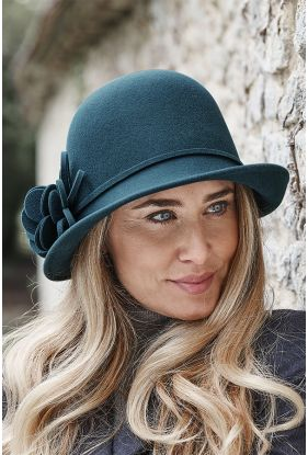 Ladies Wool Cloche Hat