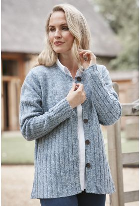 Merino Ribbed Cardigan