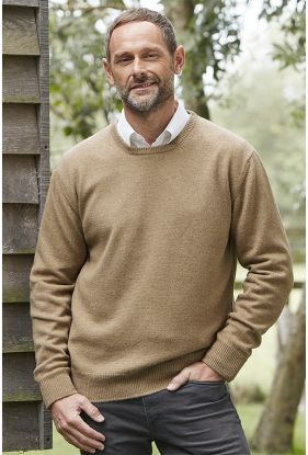 Gents Camel Crew Sweater