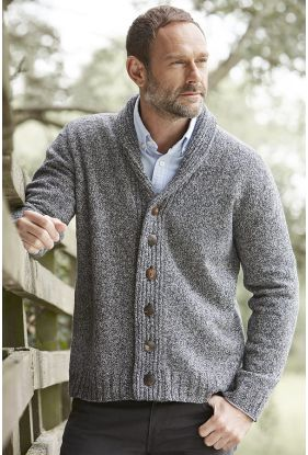 Gents 4 Ply Camel cardigan