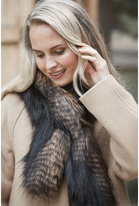 Textured Faux Fur Tippet