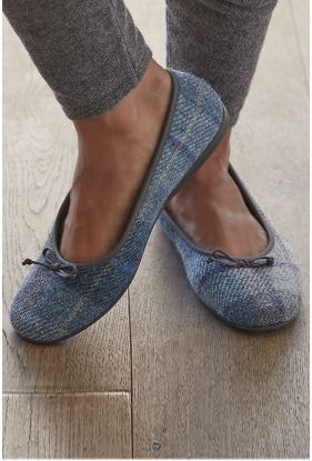 Harris Tweed Ballerina Slippers