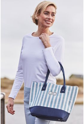 Linen Stripe Tote Bag