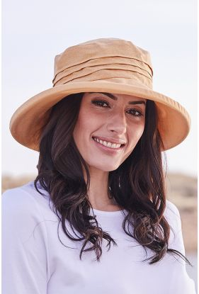 Linen Hat With Brim