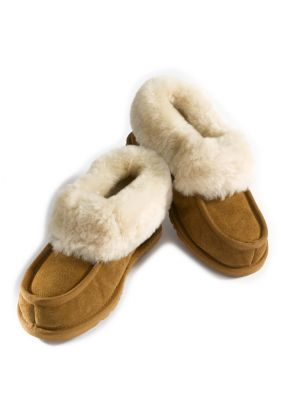 Ladies Sheepskin Slippers in Chestnut size 7