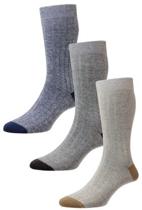 Gents Linen & Egyptian Cotton Socks